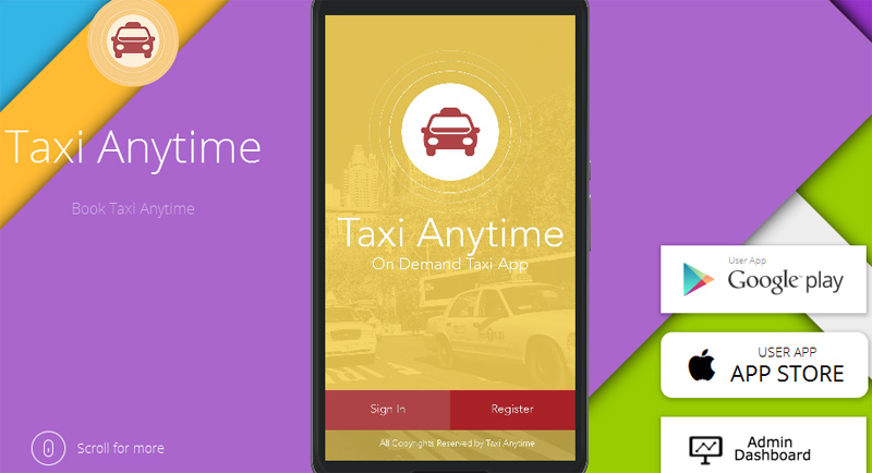 Taxi Anytime uber clone script